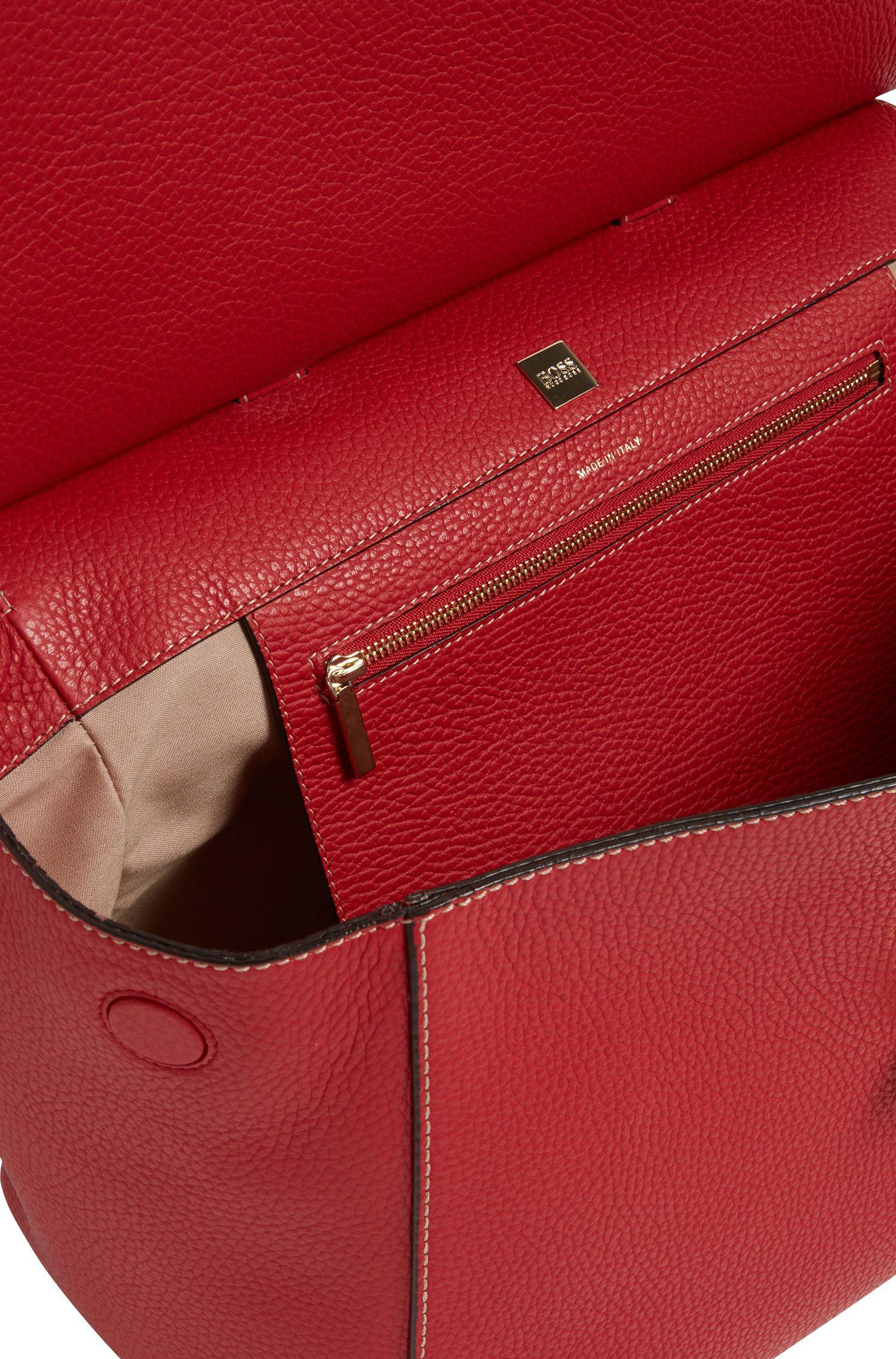 BOSS Bespoke Soft Handtasche aus genarbtem Leder