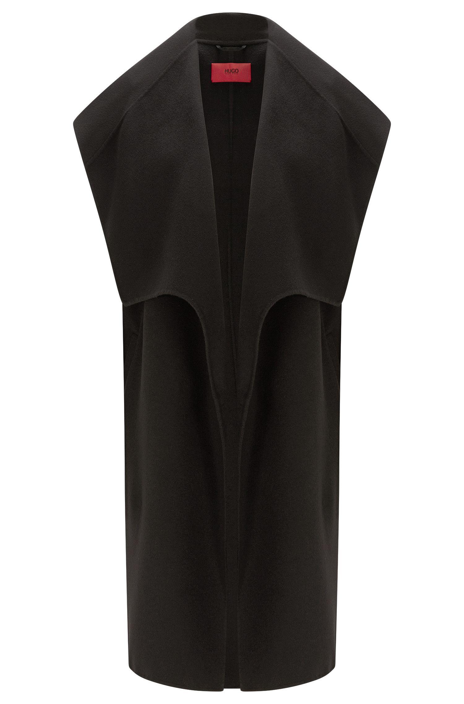 Gilet lungo in misto lana con ampio collo a scialle: 'Merce-2'