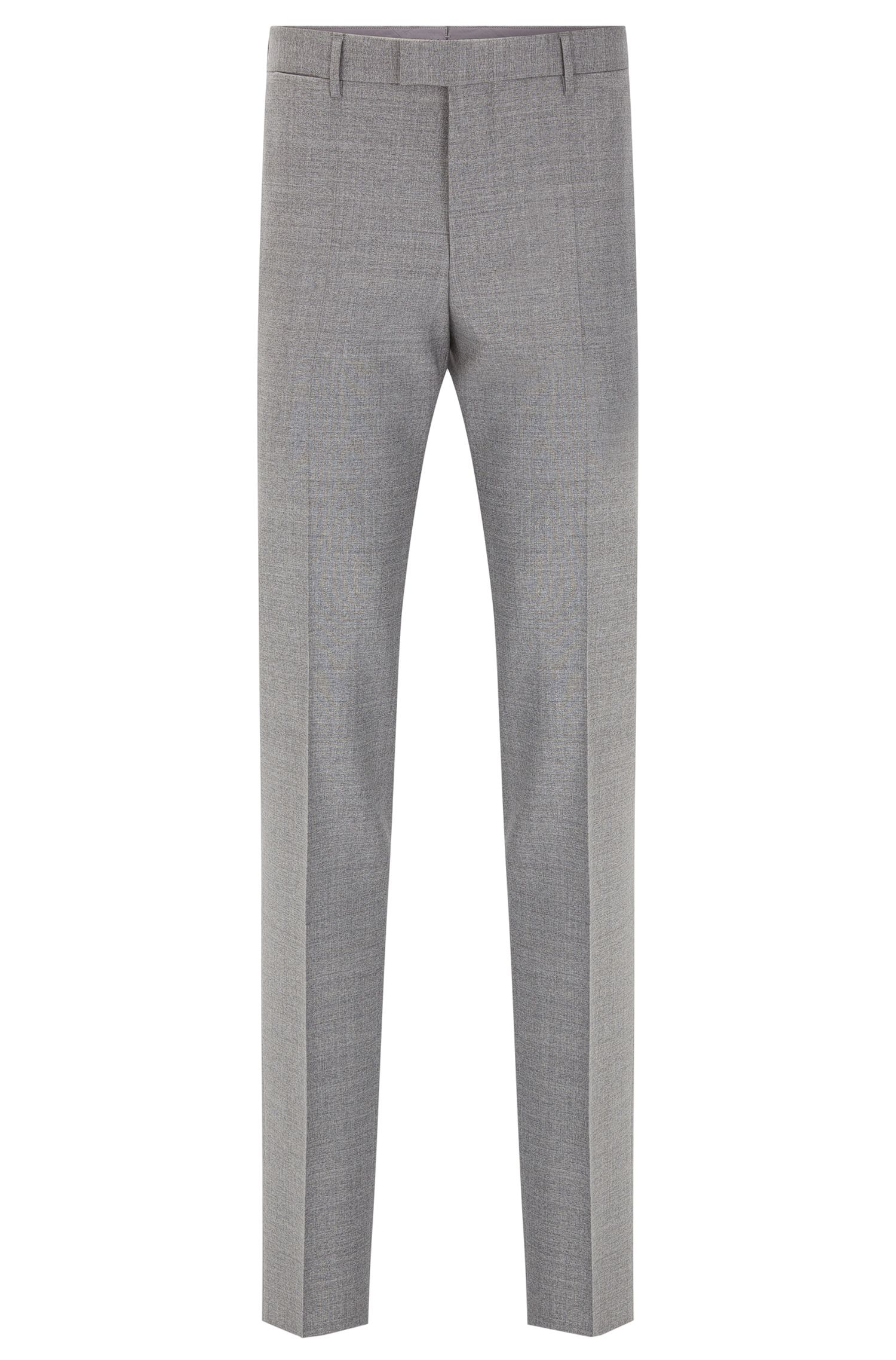 Melierte Slim-Fit Tailored Hose aus Schurwolle: 'T-Gary'
