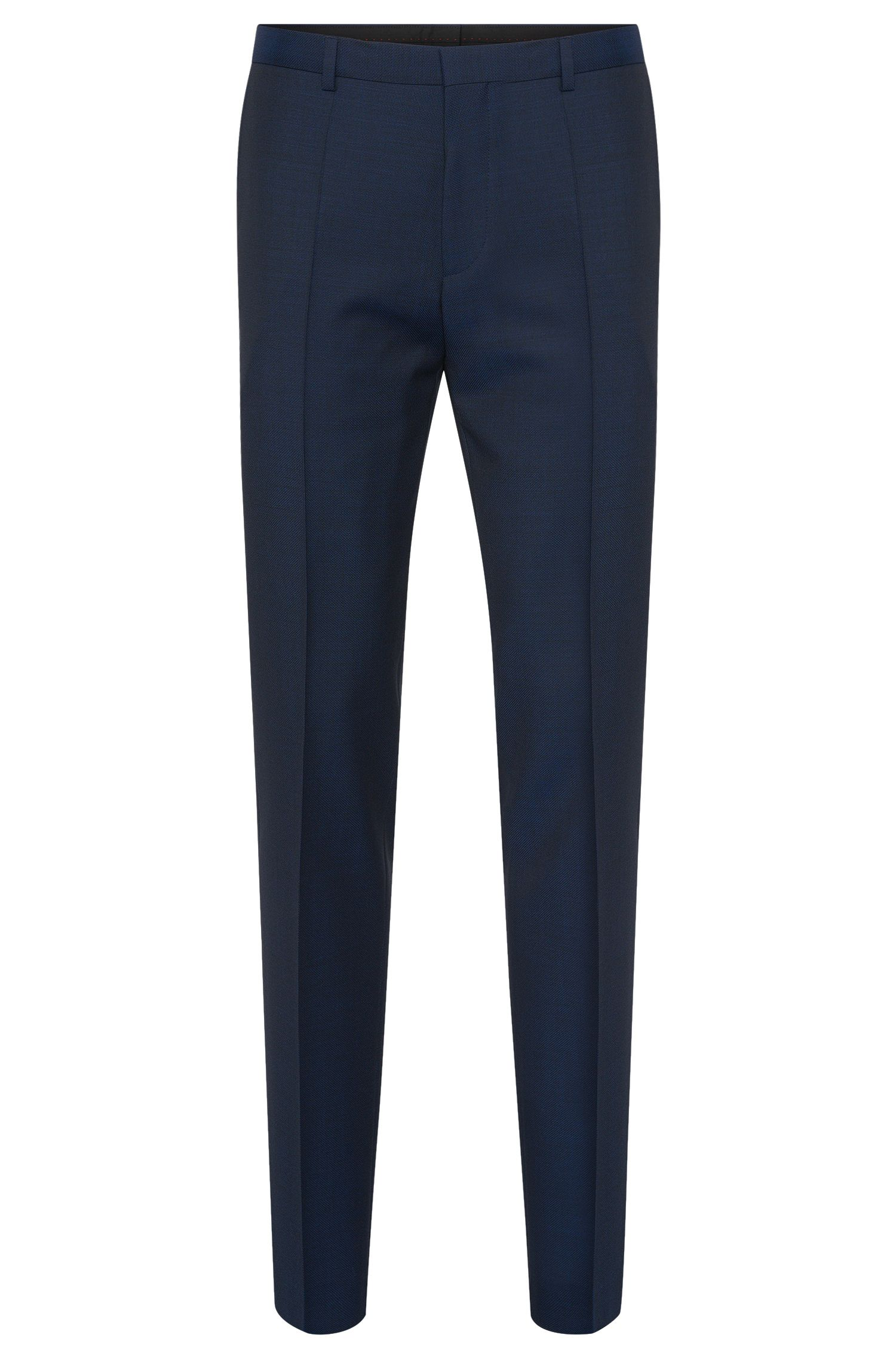 Slim-fit trousers with pressed creases in new wool: 'HartleyS'