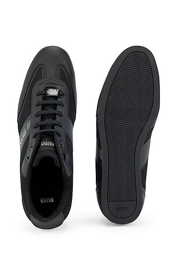 男士运动网面潮流复古休闲鞋,  001_黑色