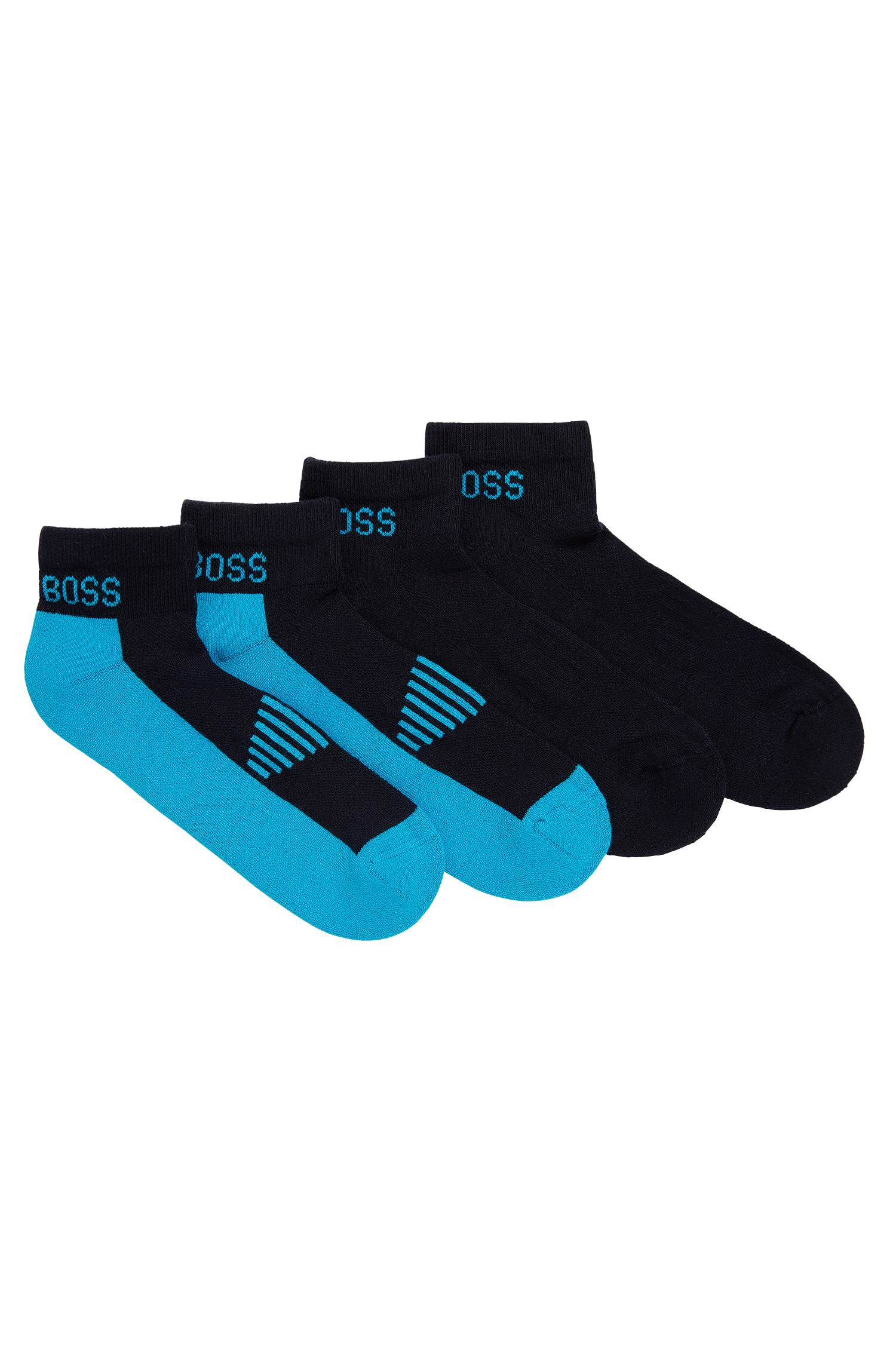 Twopack of piqué ankle socks with cushioning