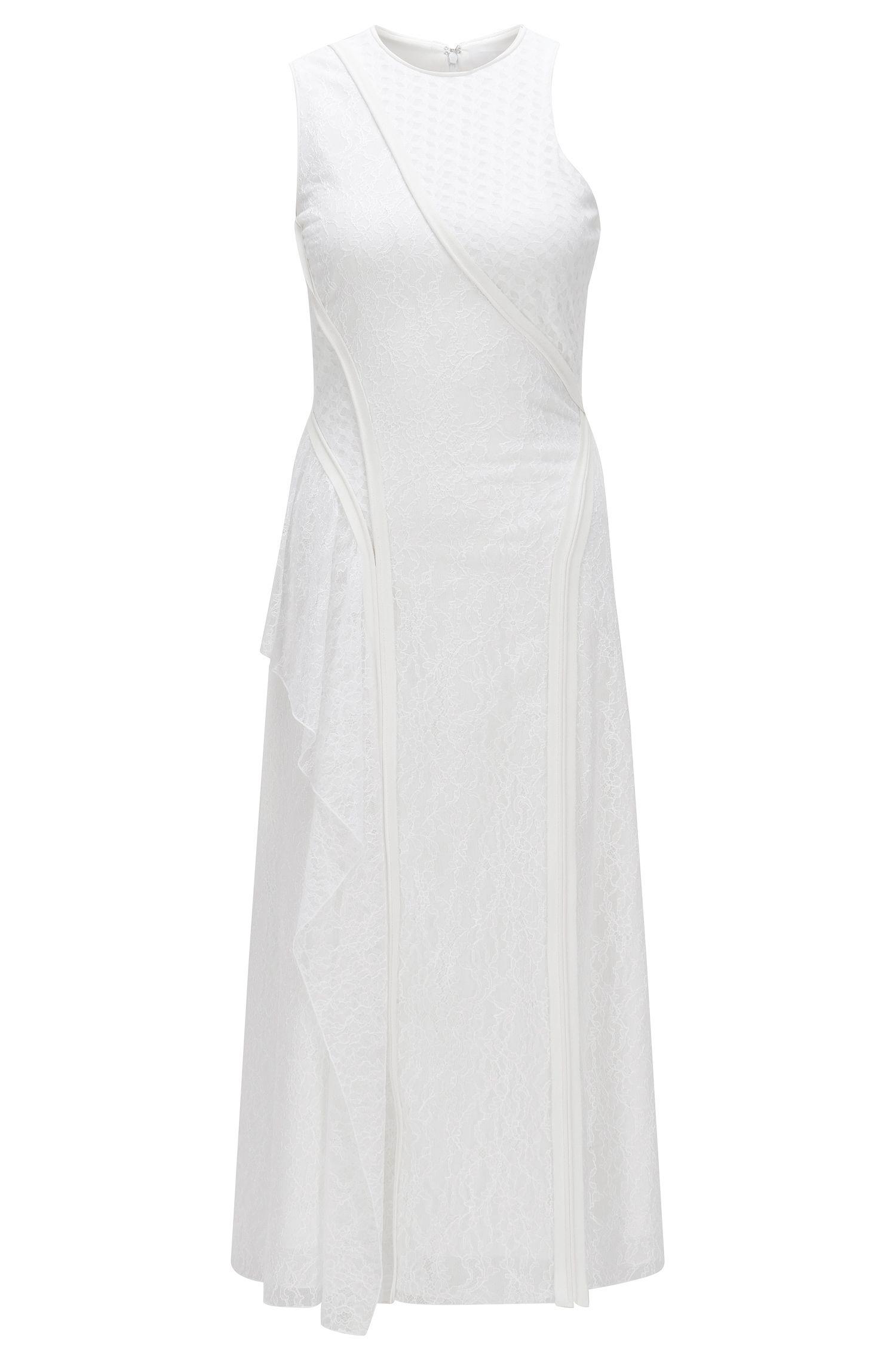 Runway Edition-jurk van een katoenmix met kant: 'FS_Danisa_C'