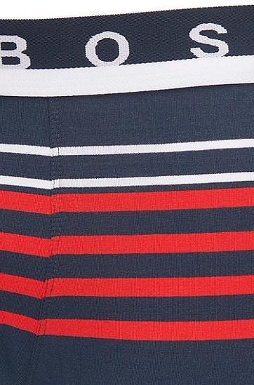 弹力棉平纹单面针织布条纹运动短裤,  405_暗蓝色