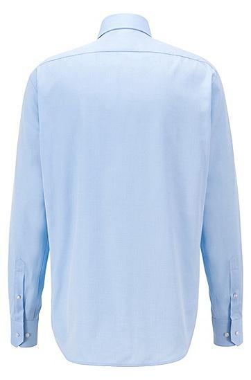 男士纯色商务职业纯棉长袖白衬衫,  450_浅蓝色