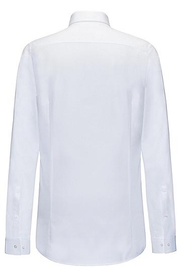 修身版柔软棉衬衫,  199_淡白色