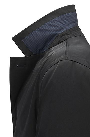 修身版斜纹布外套,  001_黑色