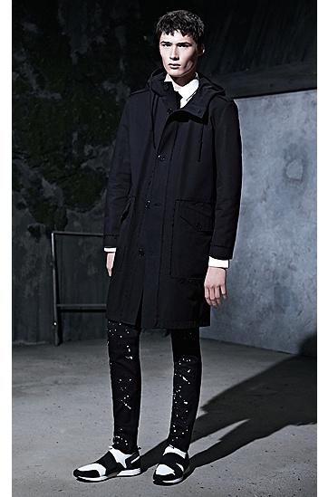修身版颜料泼溅风格弹牛仔布牛仔裤,  001_黑色