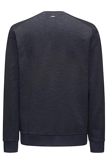 水手领毛圈布口号装饰元素套头衫,  410_海军蓝色