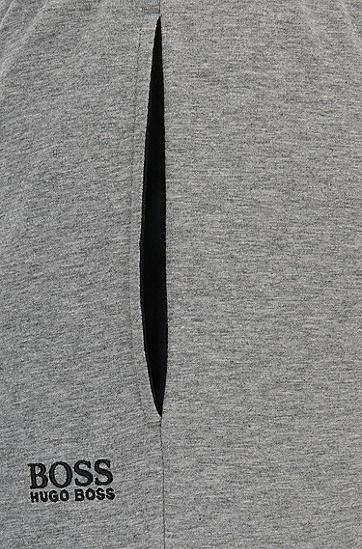 男士灰色棉质收脚运动休闲裤,  033_中灰色