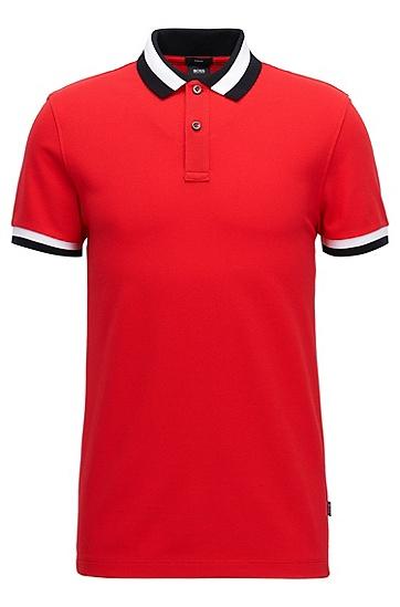 皮马棉修身版 Polo 衫,  623_亮红色