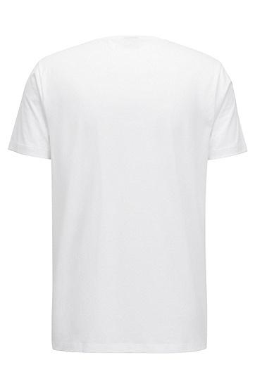 皮马棉常规版logo T 恤,  100_白色