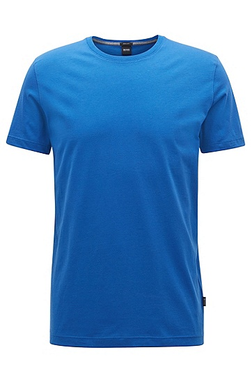常规版柔软棉质T恤,  429_中蓝色