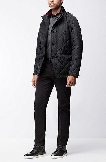 常规版丝光棉polo衫,  001_黑色