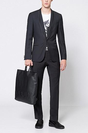 光滑皮革双面腰带,  001_黑色