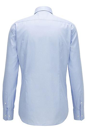 微观结构斜纹棉修身版衬衫,  450_浅蓝色