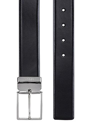 抛光针扣腰带扣双面腰带,  002_黑色