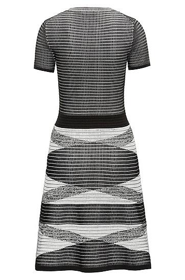 3D华夫饼格纹针织连衣裙,  960_多色