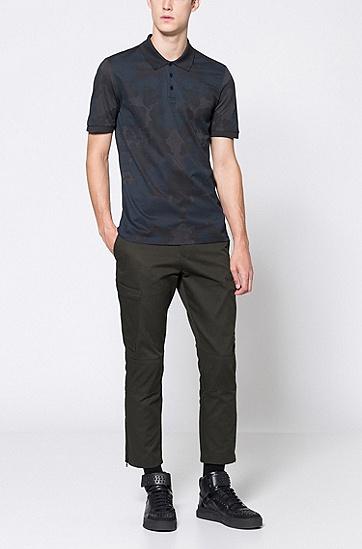 修身版棉斜纹布拉链裤脚工装裤,  306_暗绿色