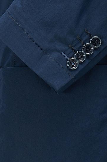 修身版棉质府绸无里料轻薄运动夹克衫,  410_海军蓝色