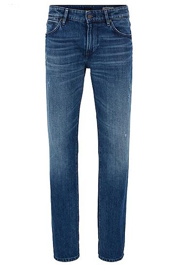 常规版偏红光牛仔布牛仔裤,  416_海军蓝色