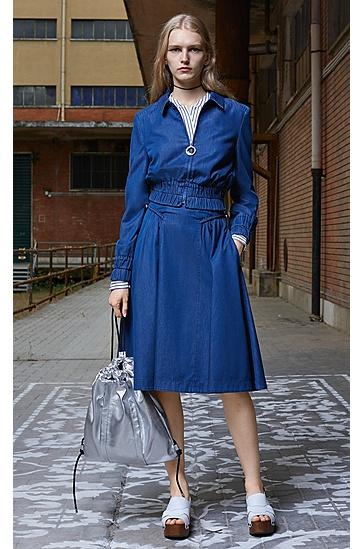大版立领条纹女式衬衫,  960_多色