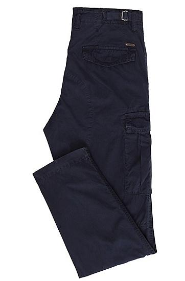 锥形版棉府绸工装裤,  404_暗蓝色