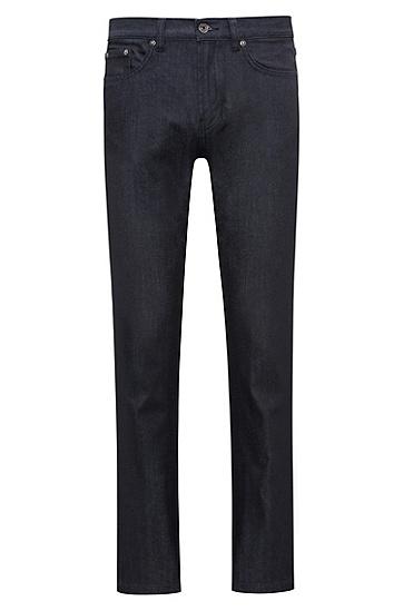 常规版深蓝色弹力牛仔布牛仔裤,  401_暗蓝色