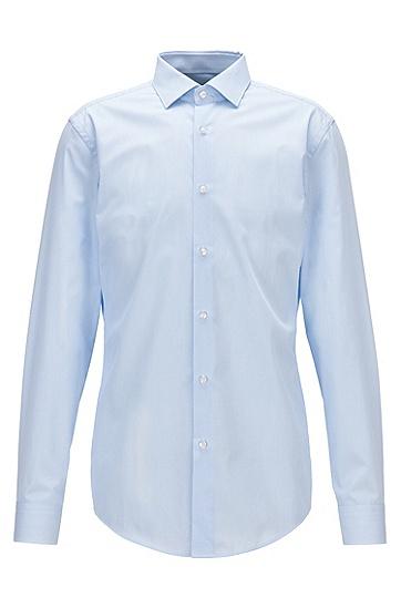 修身版aloe vera装饰元素条纹衬衫,  450_浅蓝色