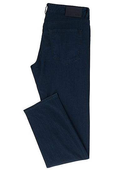 常规版轻质弹力牛仔布深蓝色牛仔裤,  415_海军蓝色
