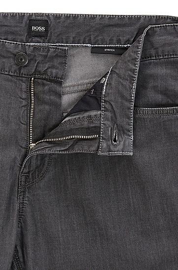 常规版轻质弹力牛仔布牛仔裤,  010_炭黑色