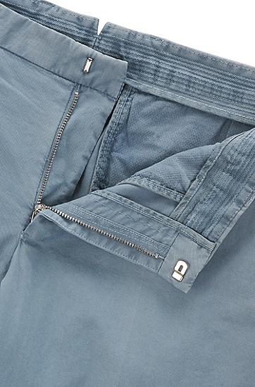 修身版染色弹力棉长裤,  066-Open Grey