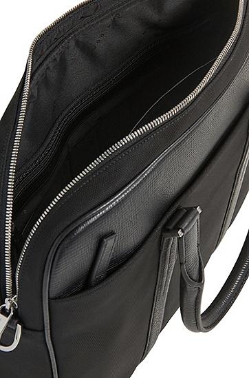 男士现代风格双向拉链公文包,  001_黑色