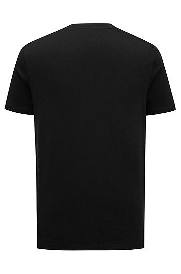 休闲版火柴艺术画皮马棉T恤,  001_黑色