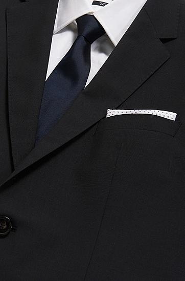 意大利制造logo印花桑蚕丝方巾,  100_白色