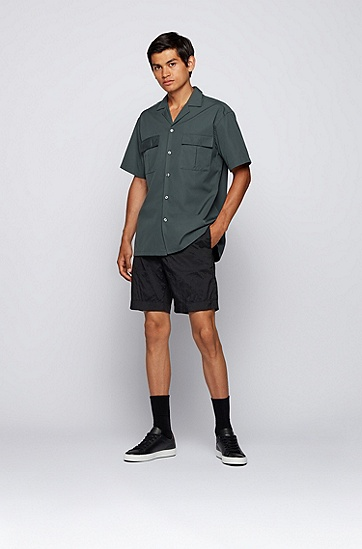 男士商务休闲皮革运动鞋,  002_黑色