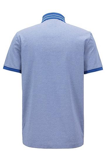 丝光棉提花微型图案polo衫,  474_淡蓝色