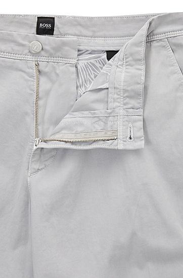 常规版涂料染色斜纹棉布短裤,  050_浅灰色