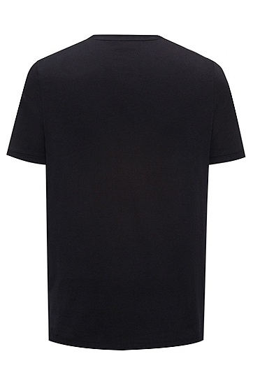 休闲版复古印花棉质T恤,  001_黑色