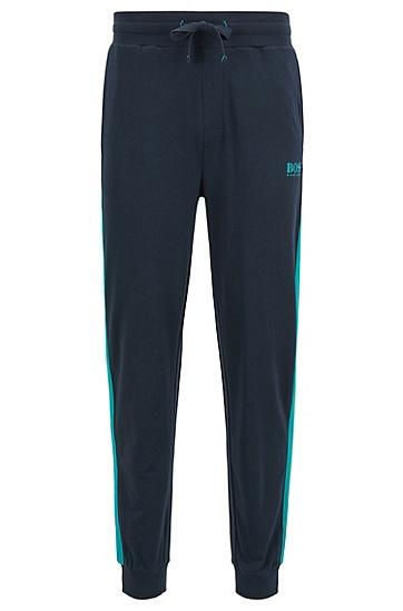 对比色元素法式毛圈布家居长裤,  403_暗蓝色