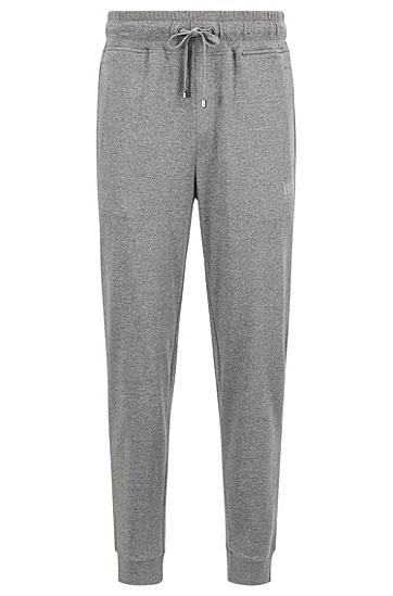 单面平纹单面针织布混色棉质家居长裤,  033_中灰色