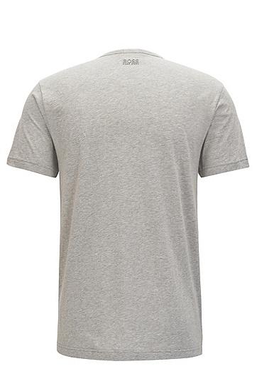男款休闲logo短袖T恤,  059_浅灰色