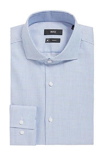 加入Fresh Active装饰元素的修身版棉质衬衫,  474_淡蓝色