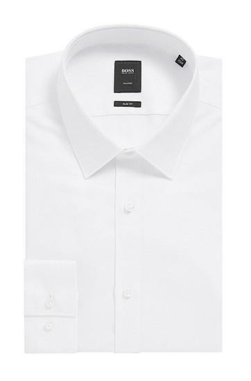 修身版珍珠母贝纽扣Royal Oxford棉质衬衫,  100_白色