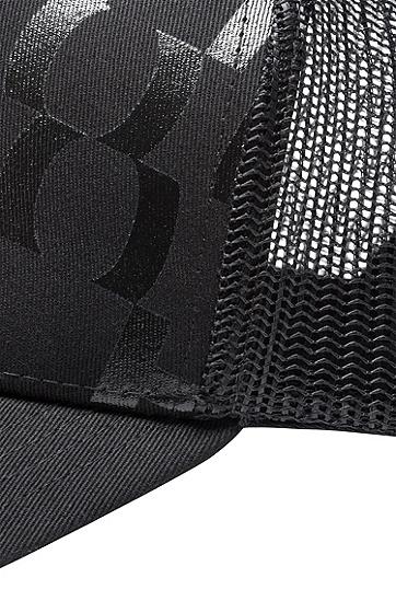 棉质华达呢抽象标语棒球帽,  001_黑色