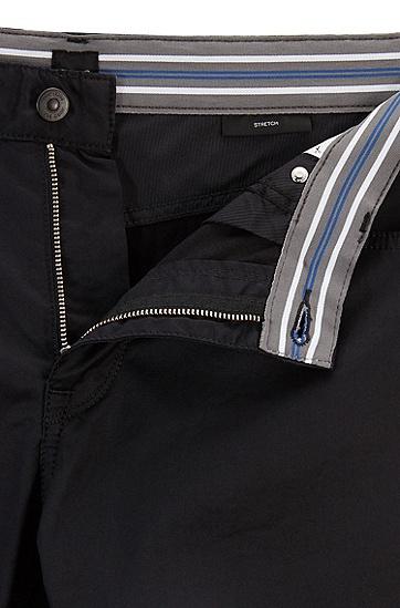 常规版缎面装饰弹力棉牛仔裤,  001_黑色