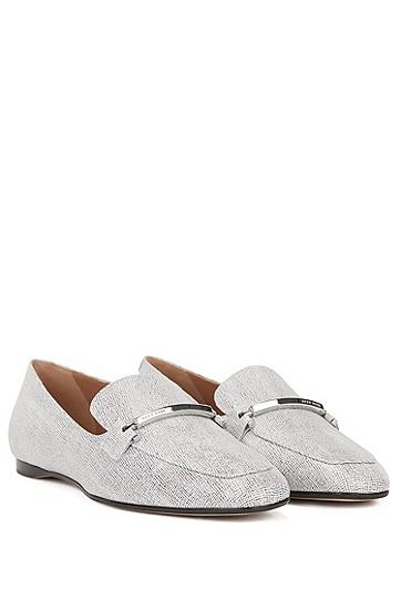 意大利制造印花小牛皮鞋面乐福鞋,  121_淡白色
