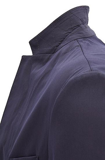 修身版轻质弹力棉混纺面料轻薄运动夹克衫,  480_淡蓝色