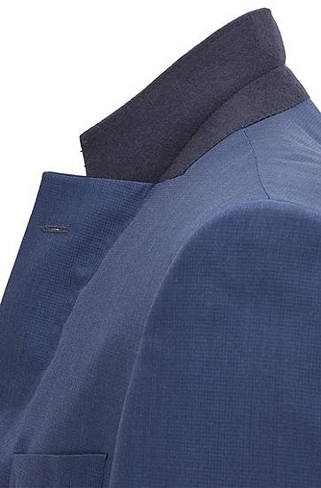 图案式意大利羊毛混纺西装套装,  480_淡蓝色