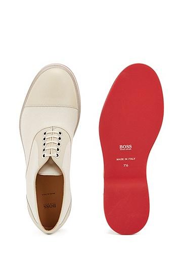 光滑皮革牛津鞋,  110_淡白色